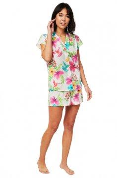 The Cat's Pajamas Women's Tropicana Luxe Pima Shorts Set
