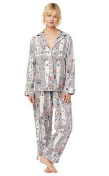 The Cat's Pajamas Women's Venus Pima Flannel Classic Pajama Set