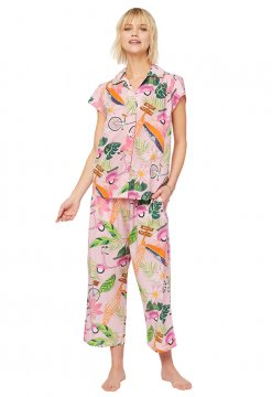 The Cat's Pajamas Women's Vespa Luxe Pima Capri Pajama Set