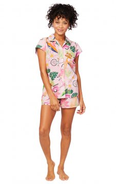 The Cat's Pajamas Women's Vespa Luxe Pima Short Set
