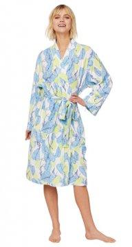 The Cat's Pajamas Women's West Palm Pima Knit Robe
