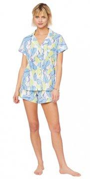 The Cat;s Pajamas Women's West Palm Pima Knit Short Set