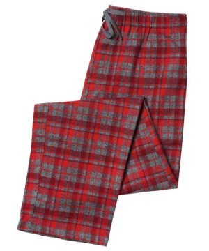 The Cat's Pajamas Men's Whistler Plaid Flannel Pajama Pant in Red