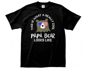 LA Imprints This Is What A Really Cool Papa Bear Looks Like T-Shirt in Black
