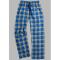 Boxercraft Royal and Gold Plaid Unisex Flannel Pajama Pant