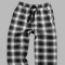 Boxercraft Men's Loungelite Black and White Plaid Poplin Pajama Pant