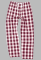 Boxercraft Maroon and Natural Buffalo Plaid Unisex Flannel Pajama Pant