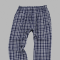 Boxercraft Men's Navy and White Classic Plaid Flannel Pant