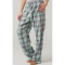 Boxercraft Mint & Gray Plaid Unisex Flannel Pajama Pant
