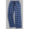 Boxercraft Navy and Columbia Plaid Unisex Flannel Pajama Pant