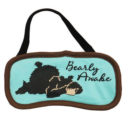 "Lazy One ""Bearly Awake"" Eye Mask in Aqua"