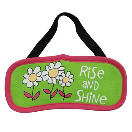 "Lazy One ""Rise & Shine"" Eye Mask in Pink and Green"