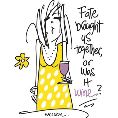 "Emerson Street ""Fate brought us together, or was it wine?"" Nightshirt in a Bag"