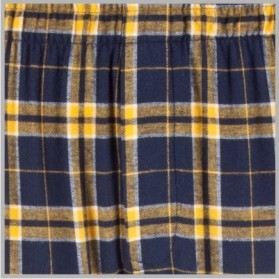 Boxercraft Navy and Gold Plaid Flannel Pajama Pant
