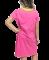 Lazy One Bed Hog V-Neck Nightshirt in Pink