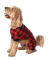 Lazy One Red Plaid Bear Cheeks FlapJack for Dogs