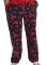 Lazy One Unisex Lobster Cotton Pajama Pant in Navy and Red