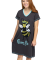Lazy One Queen Bee V-Neck Nightshirt in Grey